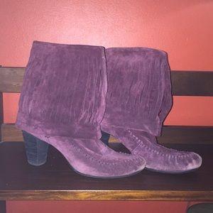 Born purple suede boots